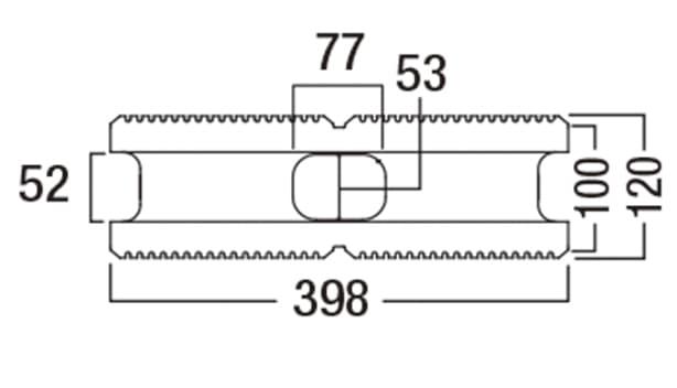 スクエアC-寸法図-120基本形横筋上部