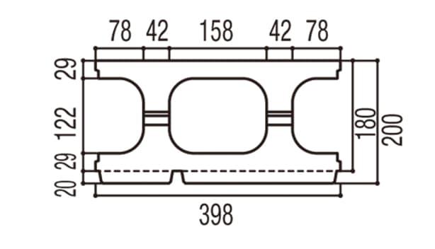 RECOM 2SP-寸法図-180基本上部