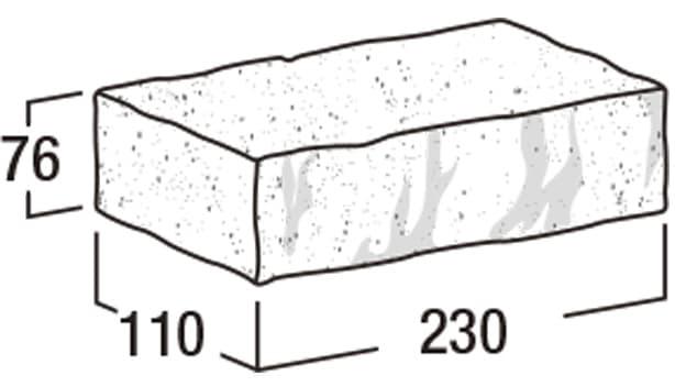 ロイヤルパイン・ブリック-寸法図-笠木(タイプ1)