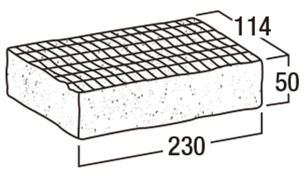 ロイヤルパイン・ペイバー-寸法図-横目模様