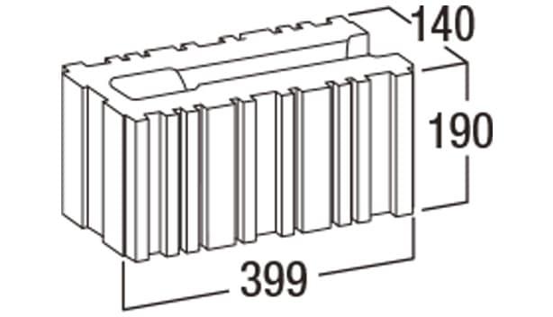 バイオメタル-寸法図-コーナー