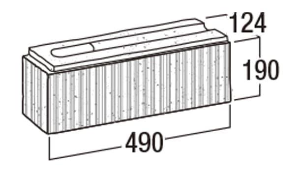 ニューライン500-寸法図-コーナー