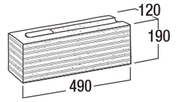 本みかげ500-寸法図-コーナー・505