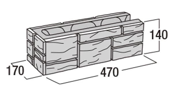 ラスティック450-寸法図-コーナー