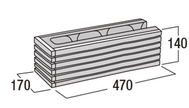 ボーダー450-寸法図-コーナー