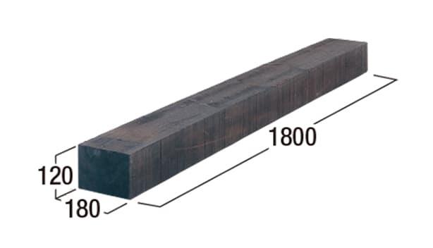 エクステリア・エコウッド-寸法図-エコウッド1800