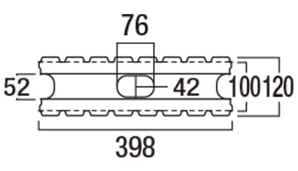 リブロックRX-寸法図-8W基本形横筋上部