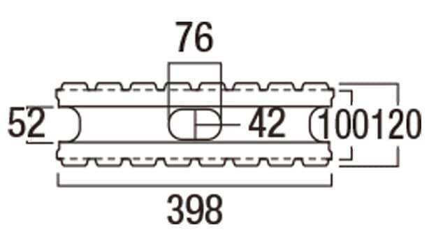 リブロックF-寸法図-8W基本形横筋上部