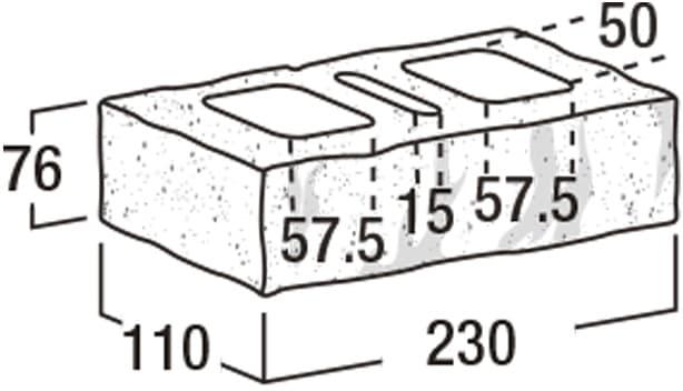 ロイヤルパイン・ブリック-寸法図-基本(タイプ1)