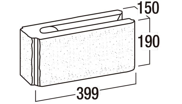 リブロックRX-寸法図-150-1Wコーナー