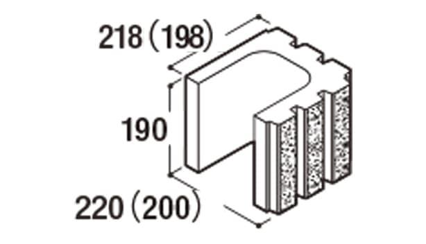RECOM 6RB-寸法図-200コーナー1/2