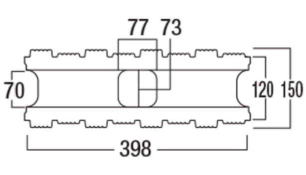 ウルトラC-寸法図-150基本形横筋上部