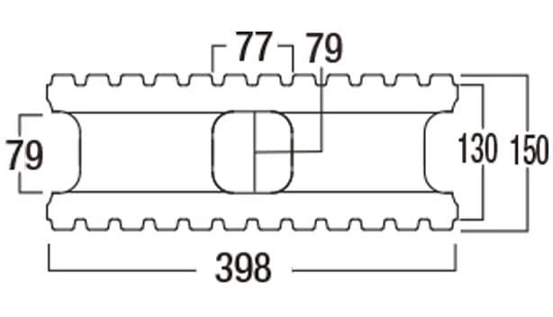 スマートC-寸法図-150基本形横筋上部