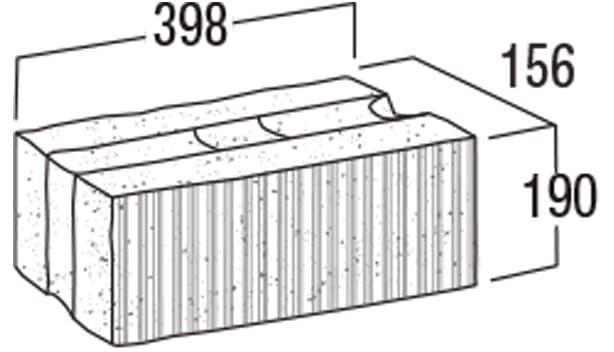 スーパーC種-寸法図-156基本形横筋