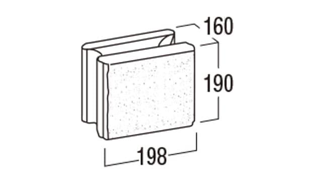 REリブ2SP-寸法図-基本形横筋1/2