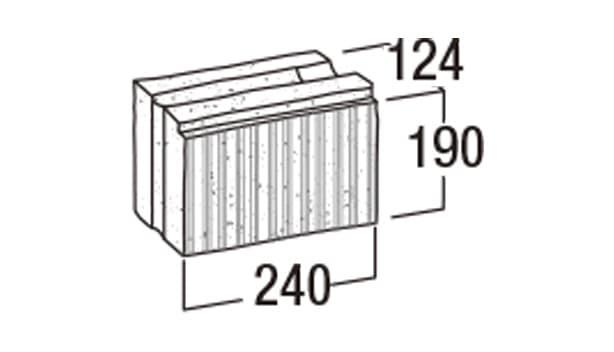 ニューライン500-寸法図-基本形横筋1/2
