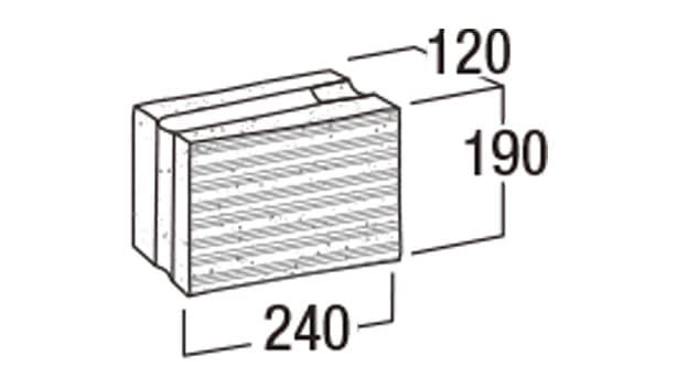 本みかげ500-寸法図-基本形横筋1/2・504