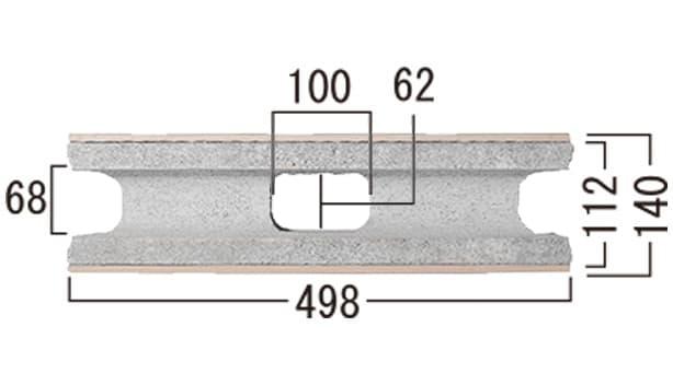 ベネチア-寸法図-基本形横筋上部
