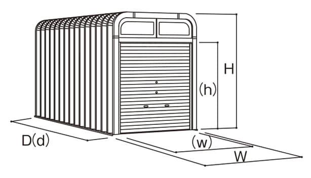 カスケード-寸法図-バイクボックス