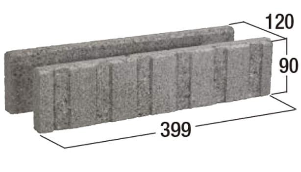 土間打設目地切り用ブロック S-1-寸法図-形状寸法図