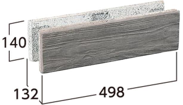 ラボ・ウォール-寸法図-片面基本形横筋