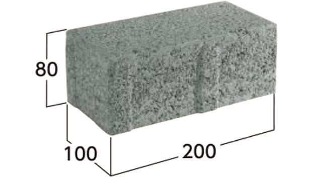 車道統一型インターロッキングブロック-寸法図-8N
