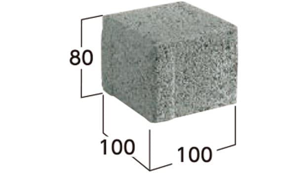 車道統一型インターロッキングブロック-寸法図-8S