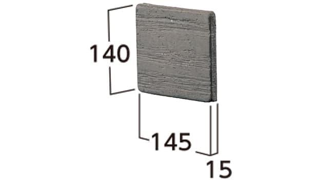 ラボ・ウォール-寸法図-両面用コーナーパーツ