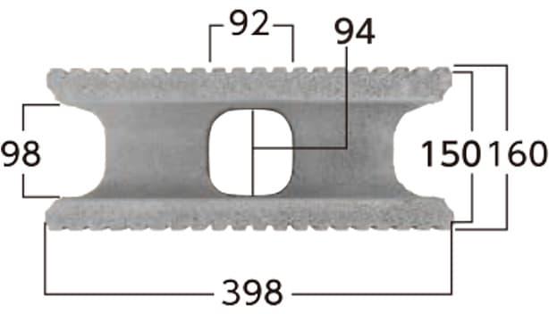 タフト-寸法図-基本形横筋上部形状