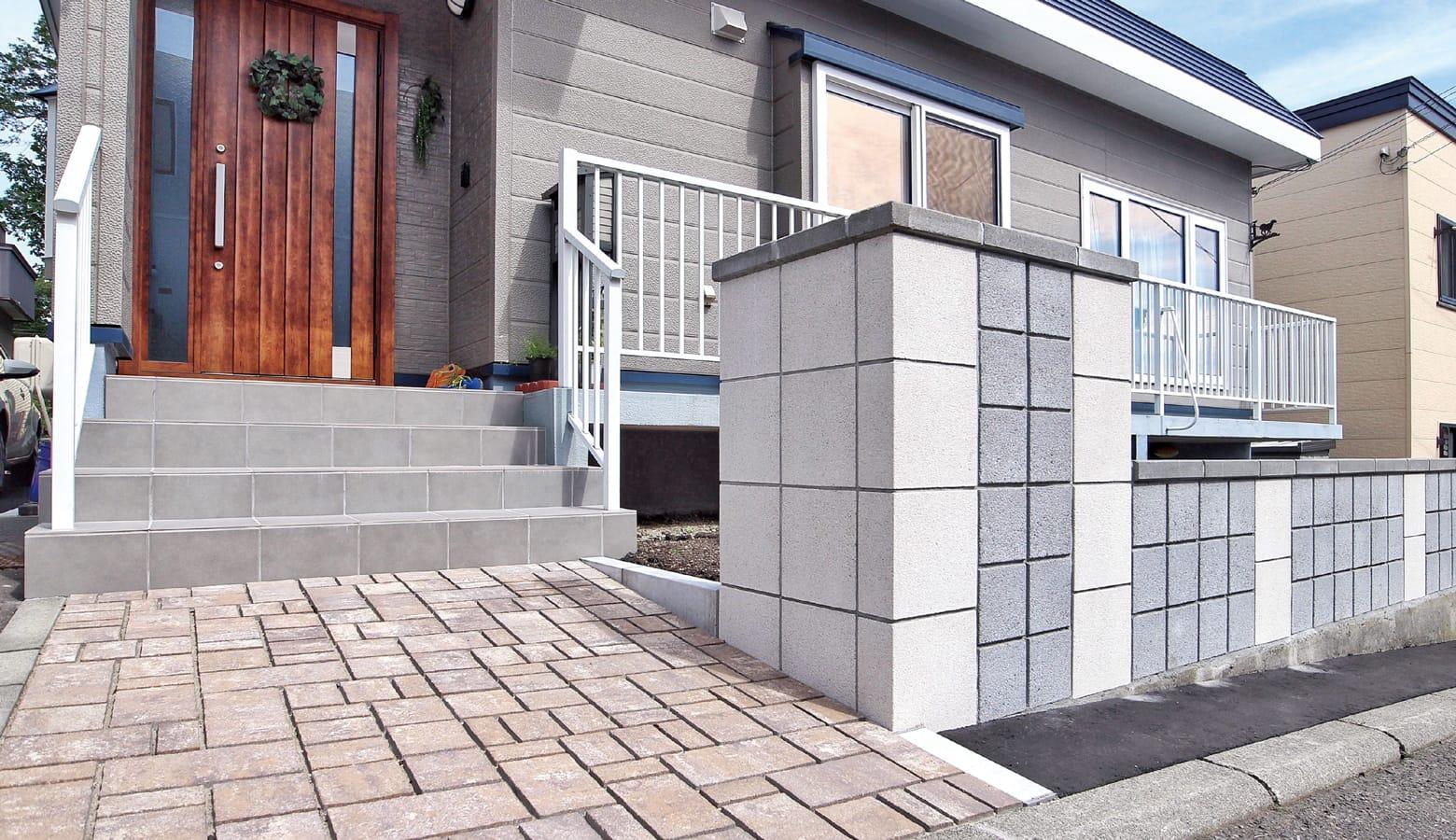 サイズの違うブロックの組み合わせ