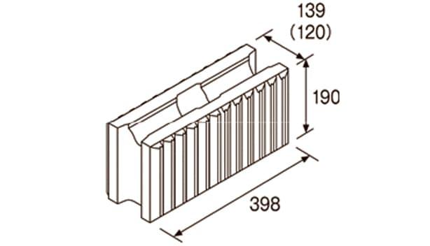 ビューライン-寸法図-基本形横筋