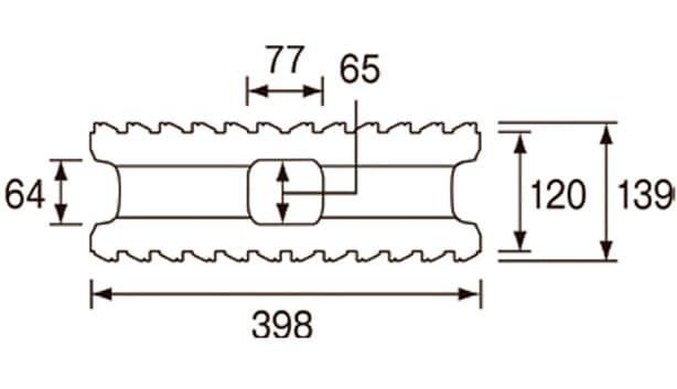 ビューライン-寸法図-基本形横筋上部