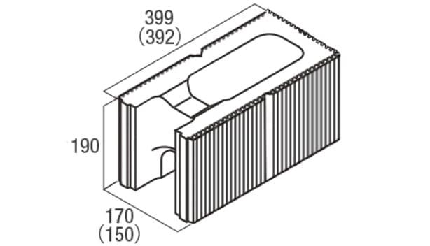 スクエアC・型枠-寸法図-コーナー