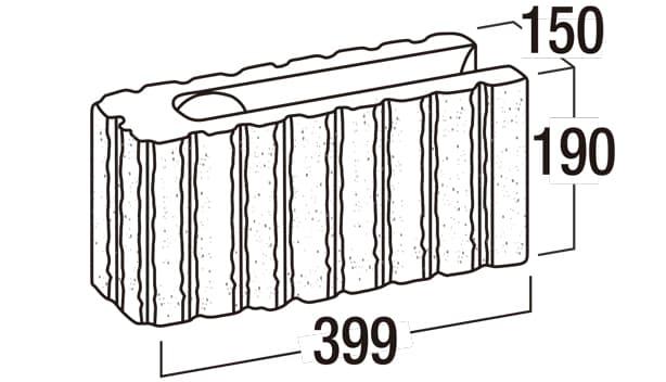 リブロック150-寸法図-コーナー