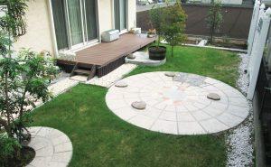 アクシア・サークルのウェザードバフを使用した裏庭の憩いのスペース